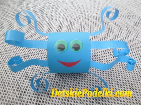 Поделка осьминог из бумаги