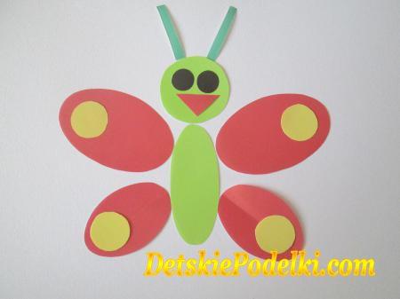 геометрическая аппликация бабочка