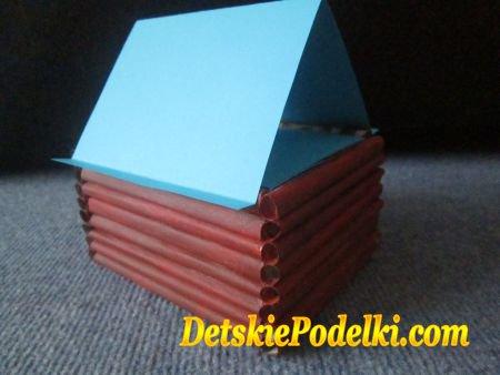 домик из бумаги
