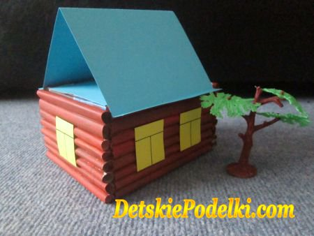 Фото поделка домик своими руками из бумаги