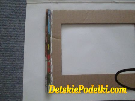 рамка из бумажных трубочек
