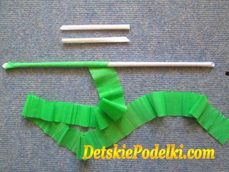 как сделать стебель для цветка из бумаги