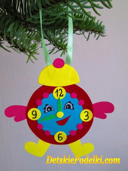 Новогодние игрушки на елку часы своими руками
