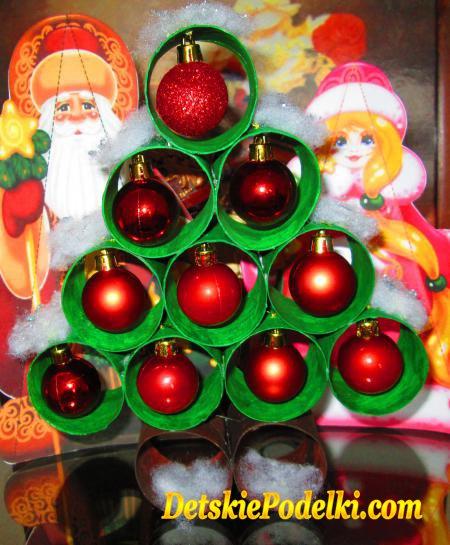 новогодняя елка из рулонов