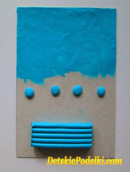 пластилиновые картины на картоне