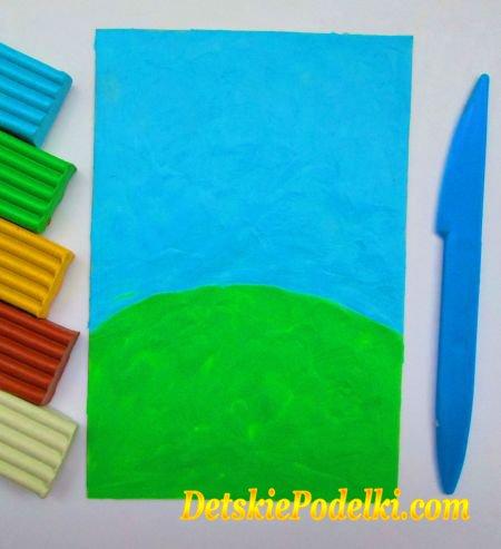 как слепить картинку из пластилина
