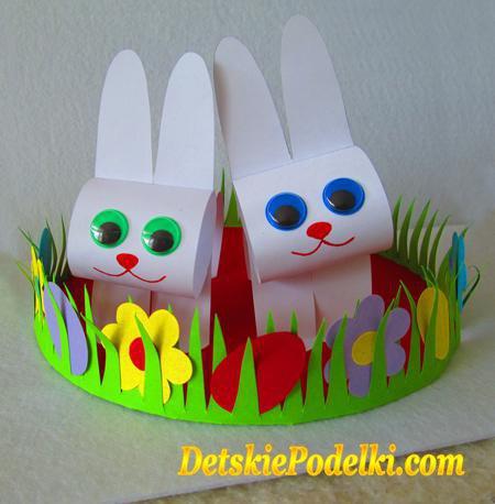 детские поделки заяц