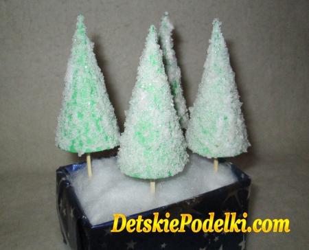 елки из бумаги