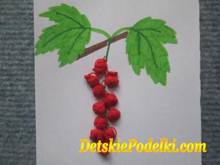 Поделки для детского сада своими руками ягоды 179